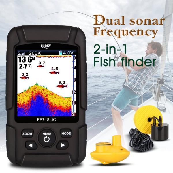 2.8インチ カラー液晶魚群探知機 デュアルソナー 100m深度|synergy2|02
