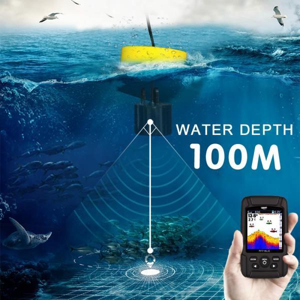2.8インチ カラー液晶魚群探知機 デュアルソナー 100m深度|synergy2|04