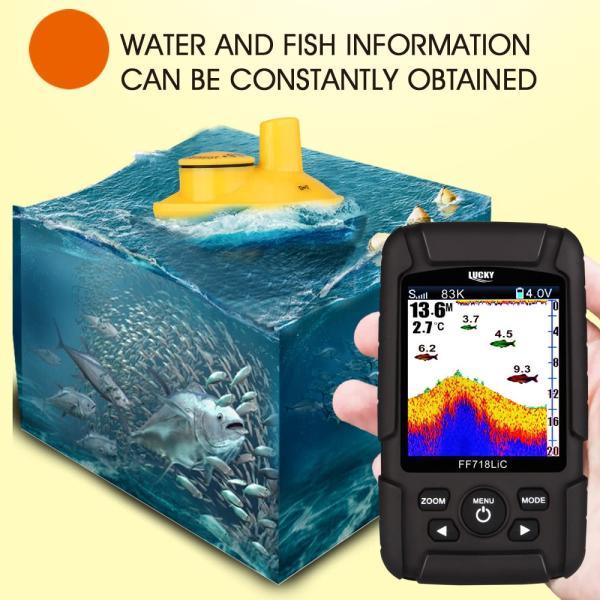 2.8インチ カラー液晶魚群探知機 デュアルソナー 100m深度|synergy2|07