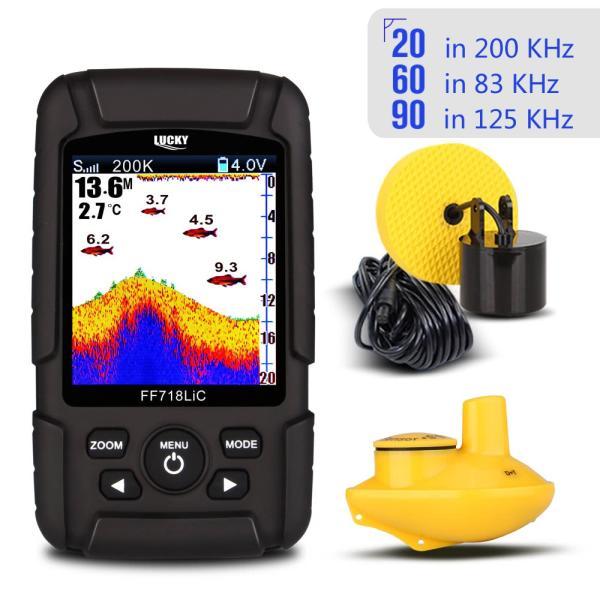 2.8インチ カラー液晶魚群探知機 デュアルソナー 100m深度|synergy2|09