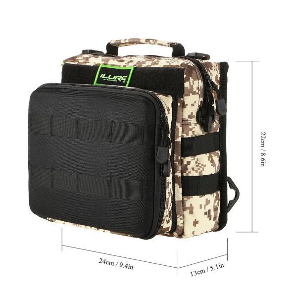 iLURE フィッシングタックルバッグ バックパック クロスボディー メッセンジャー スリングバッグ|synergy2|20