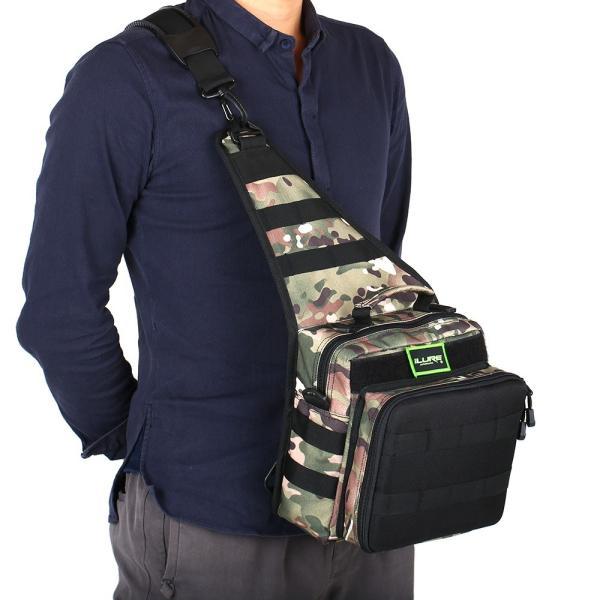 iLURE フィッシングタックルバッグ バックパック クロスボディー メッセンジャー スリングバッグ|synergy2|04