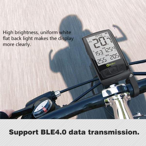 Bluetooth ワイヤレスサイクルコンピューター IPX5防水 2.5インチ液晶ディスプレイ|synergy2|02