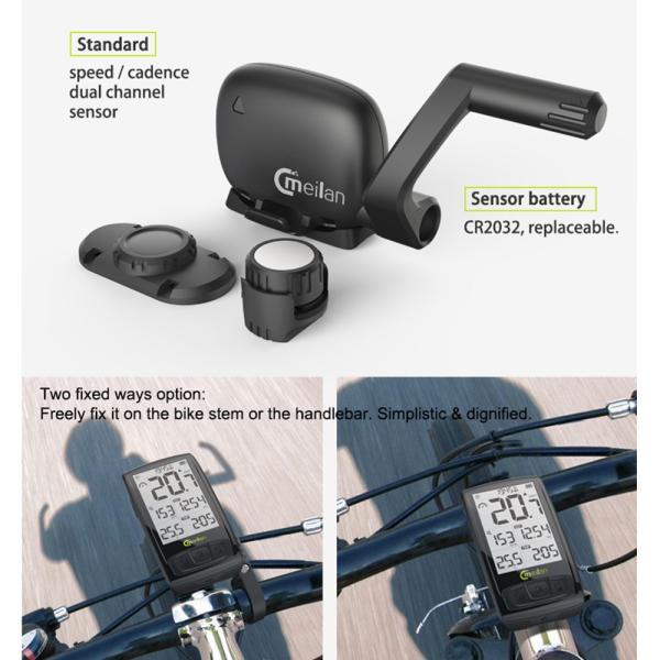 Bluetooth ワイヤレスサイクルコンピューター IPX5防水 2.5インチ液晶ディスプレイ|synergy2|12