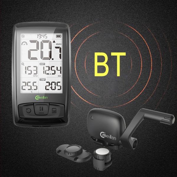 Bluetooth ワイヤレスサイクルコンピューター IPX5防水 2.5インチ液晶ディスプレイ|synergy2|03