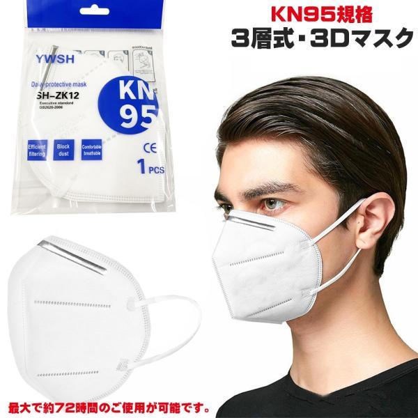 即納 KN95規格 3層式 3Dマスク 最大約72時間 約3日 のご使用が可能 医療用|synergyselect
