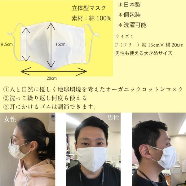 即納 2枚セット 日本製 洗って繰り返し使える オーガニック コットン マスク 安心の個別包装 synergyselect 02