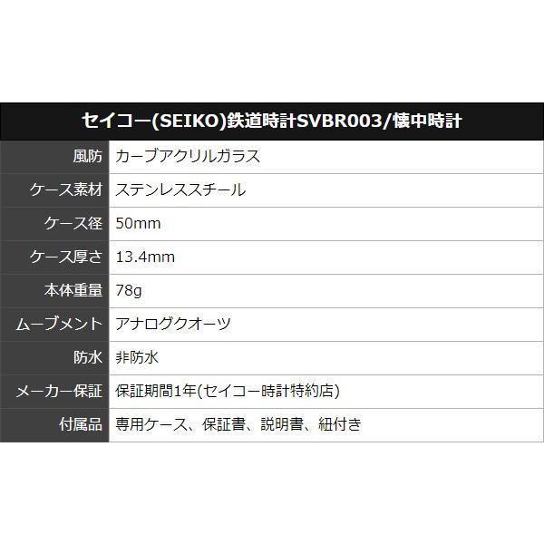 10倍ポイント/あすつく/セイコー鉄道時計SVBR003懐中時計|syohbido-store|02
