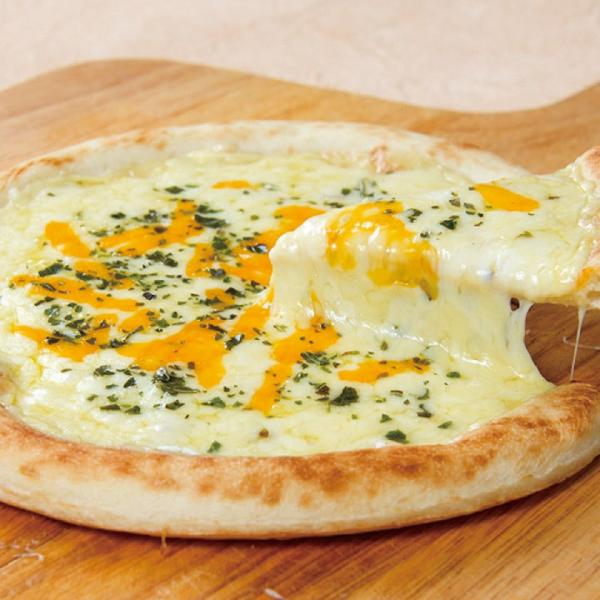 冷凍食品 業務用 ナポリ風 5種のチーズピザ #800 1枚 約195g 108483 ブルーチーズ チーズソース ゴーダ ステッペン レッドチェダー