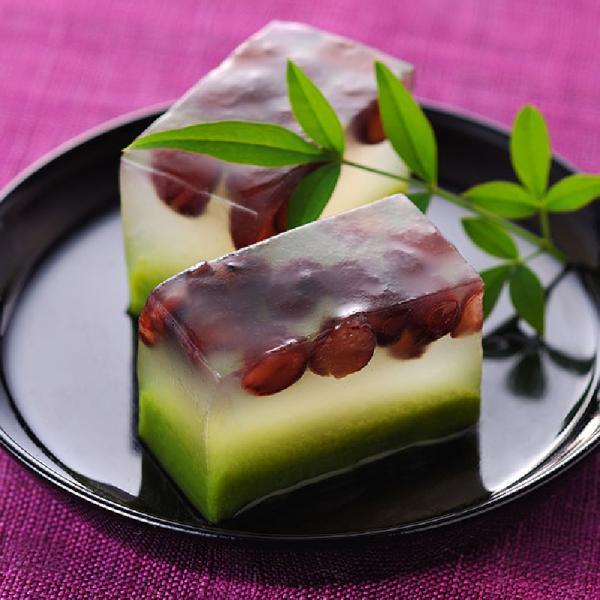 冷凍食品 業務用 水菓子 小豆入り 抹茶羹 380g (カットなし) 11561 ようかん 甘味 和菓子