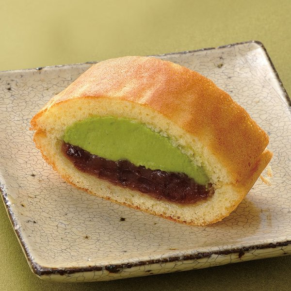 冷凍食品 業務用 フリーカット和菓子 生どらやき (抹茶) 340g (カットなし) 12219 どら焼き ドラヤキ 文化祭 デザート イベント和風