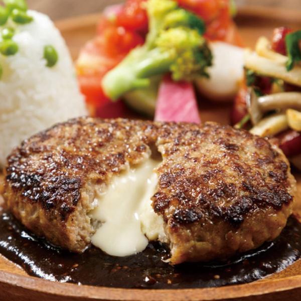 冷凍食品 業務用 鉄板焼チーズインハンバーグ 130g 17195  5種類のチーズ 肉料理 レンジ