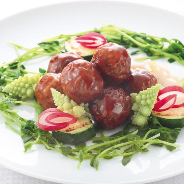 冷凍食品 業務用 肉だんご (甘酢あん) (Fe&食物繊維) 900g (40個入) 20086 弁当 国産 鶏肉 ミートボール タレなし 鉄分 洋食 一品