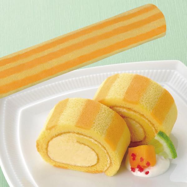 冷凍食品 業務用 ロールケーキ マンゴー (アルフォンソマンゴーピューレ使用) 190g (カットなし) 20639 フリーカット デザート 洋菓子 フルーツ