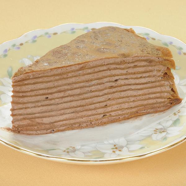 冷凍食品 業務用 北海道ミルクレープ チョコ 約320g (4個入) 21794 ケーキ 洋菓子 カット済 チョコ チョコレート