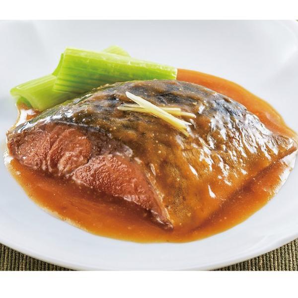 冷凍食品 業務用 やわらか煮魚 サバ味噌煮 350g (5切入) 22165 切り身 国産 鯖
