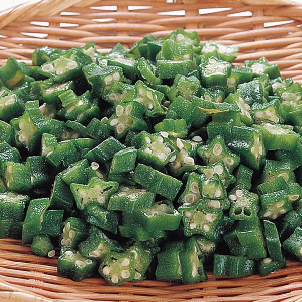 冷凍食品 業務用 オクラスライス IQF 500g 605524 弁当 おくら 緑黄色野菜 IQF バラ凍結 カット野菜 冷凍野菜