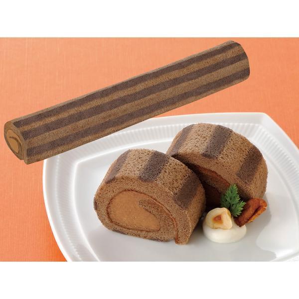 冷凍食品 業務用 ロールケーキ ショコラ (ベルギー産チョコレート使用) 190g (カットなし) 608230 ケーキ