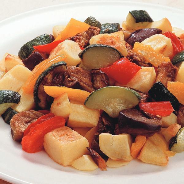 冷凍食品 業務用 地中海野菜グリルのミックス 600g 8272 弁当 じゃがいも ズッキーニ なす 赤パプリカ 黄パプリカ 業務用 冷凍 カット野菜 ミックス