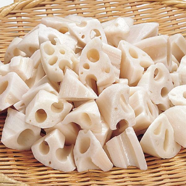 冷凍食品 業務用 れんこん 乱切 500g (約55〜70個入) 8345 弁当 簡単 時短 カット野菜 レンコン 蓮根 業務用