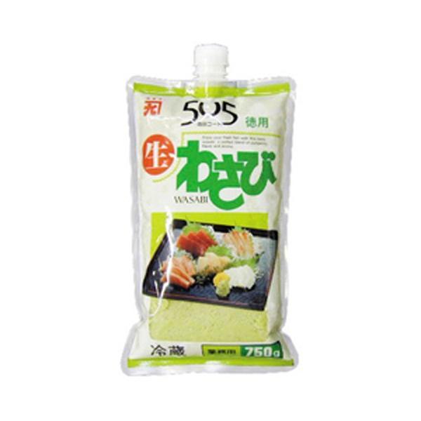 冷凍食品 業務用 505生わさび 750gチューブ 87583 弁当 生山葵 薬味 わさび 香辛料 スパイス 調味料