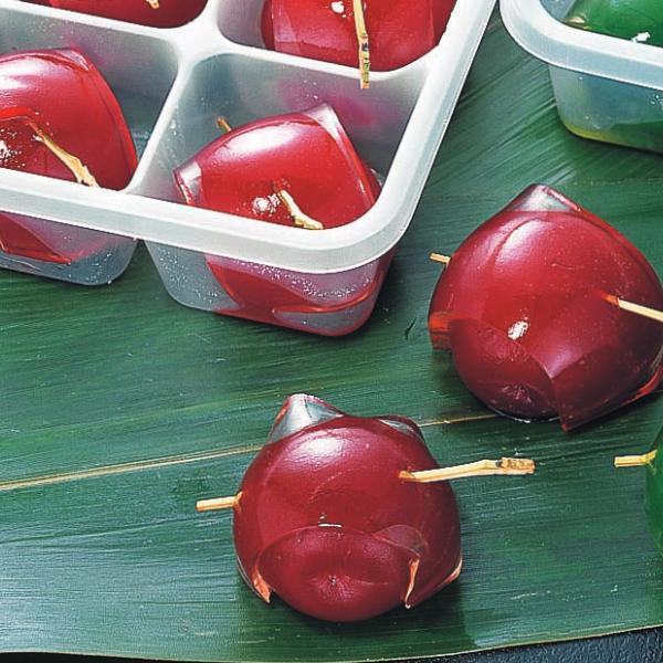冷凍食品 業務用 鏡梅 (赤) 約25g×15個入 90192 弁当 赤梅 甘露煮 梅甘露 割烹 甘味