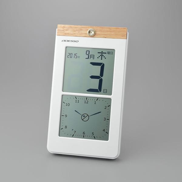 叙勲記念品 叙勲お祝い 「デジタル日めくり電波時計 K8656」 叙勲挨拶状付 お祝い品|syoubidou