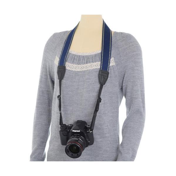 ARNUVO カメラストラップ ヤヌス イエロー/ブルー VAR-0303