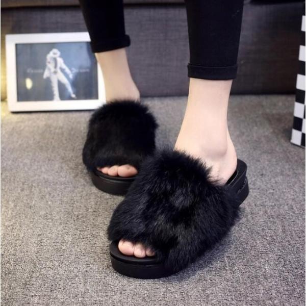 サンダル ファーサンダル 婦人靴 秋物新作もこもこ 厚底サンダル レディース  秋サンダル  ファー付|syouya-store|02