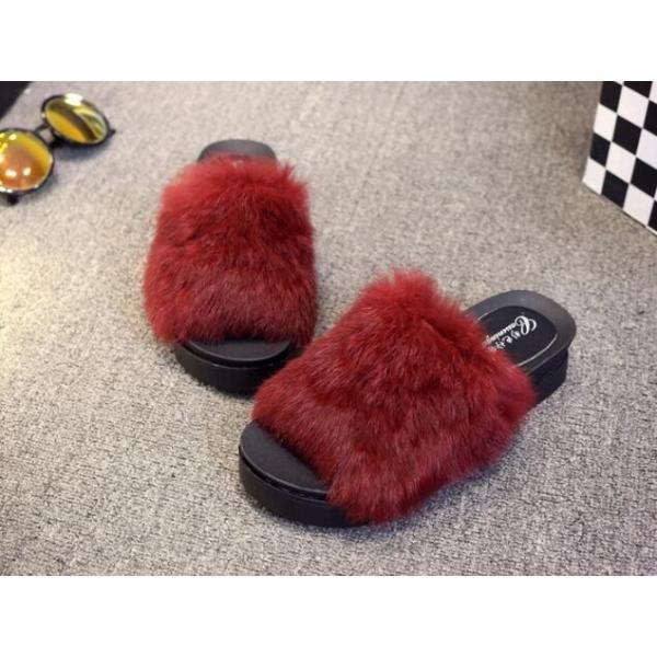 サンダル ファーサンダル 婦人靴 秋物新作もこもこ 厚底サンダル レディース  秋サンダル  ファー付|syouya-store|04