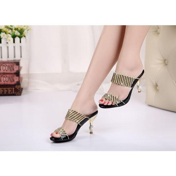 サンダル ヘップ サンダル ミュール 靴 パンプス ミディアムヒール 太ヒール 軽い 歩きやすい キラキラ オフィス 滑り止め 履き心地 痛くない