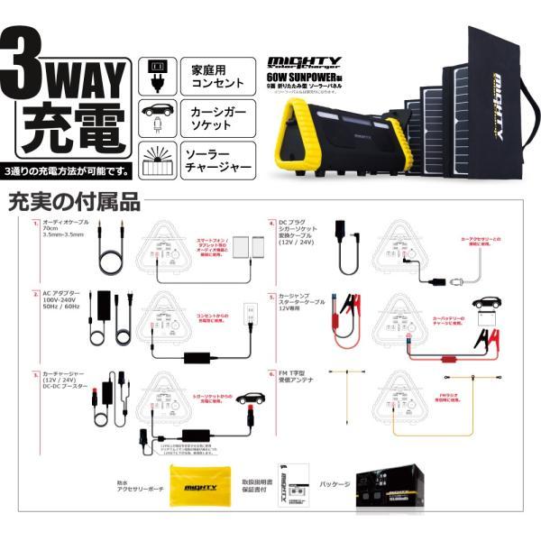ポータブル電源 MIGHTY 大容量 車中泊 非常用電源 552Wh/153600mAh FMラジオ Bluetooth IP66 LEDライト 蓄電池 パナソニックリチウム電池|syride|14