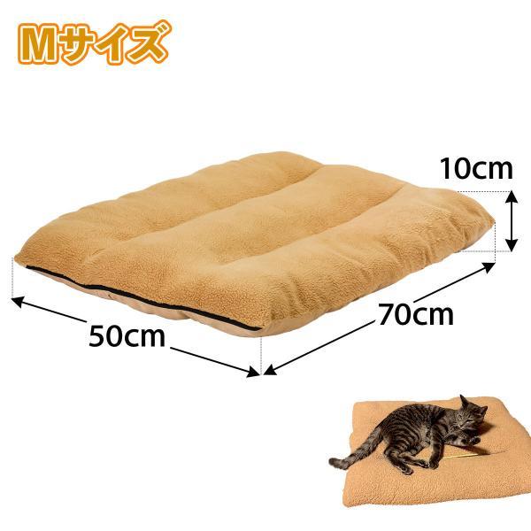 ラージマット ペット ベッド 大型 犬 洗える ふわふわ 暖か ベッド ベージュ Mサイズ systemstyle 10