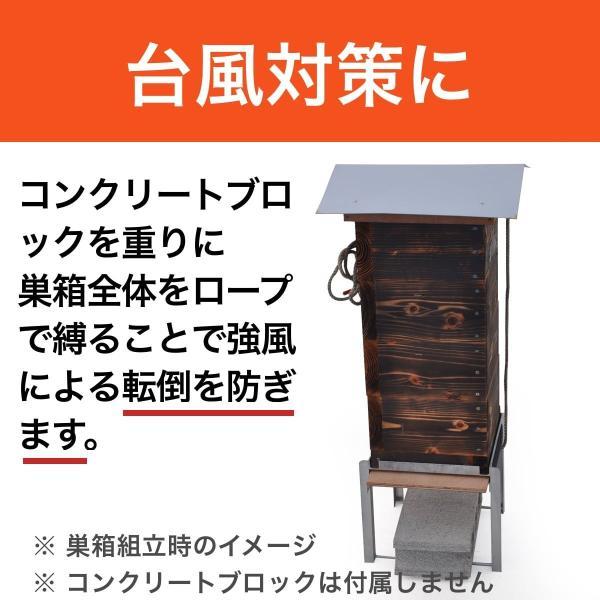 新型鉄製台 【重箱式巣箱専用】|syumatsu-yoho|05