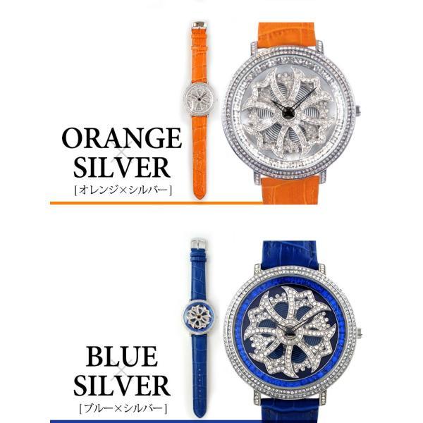 グルグル時計 本革 文字盤が回る腕時計 クルクル時計 ビッグフェイス AROUND-WATCH ユニセックス あすつく対応|syumicolle|11