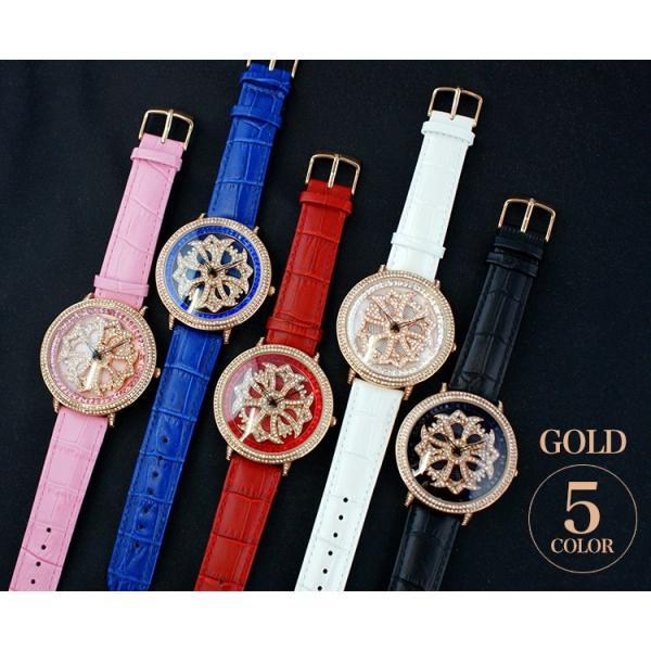 グルグル時計 本革 文字盤が回る腕時計 クルクル時計 ビッグフェイス AROUND-WATCH ユニセックス あすつく対応|syumicolle|12