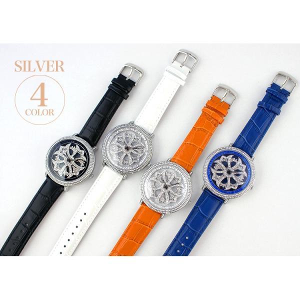 グルグル時計 本革 文字盤が回る腕時計 クルクル時計 ビッグフェイス AROUND-WATCH ユニセックス あすつく対応|syumicolle|13