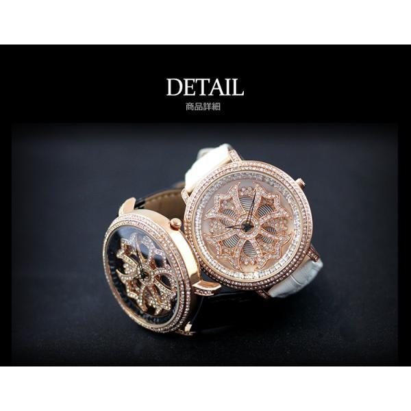 グルグル時計 本革 文字盤が回る腕時計 クルクル時計 ビッグフェイス AROUND-WATCH ユニセックス あすつく対応|syumicolle|05
