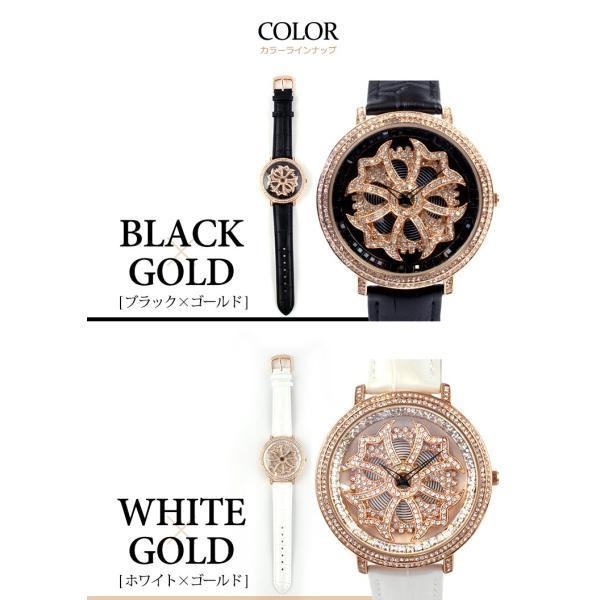 グルグル時計 本革 文字盤が回る腕時計 クルクル時計 ビッグフェイス AROUND-WATCH ユニセックス あすつく対応|syumicolle|07