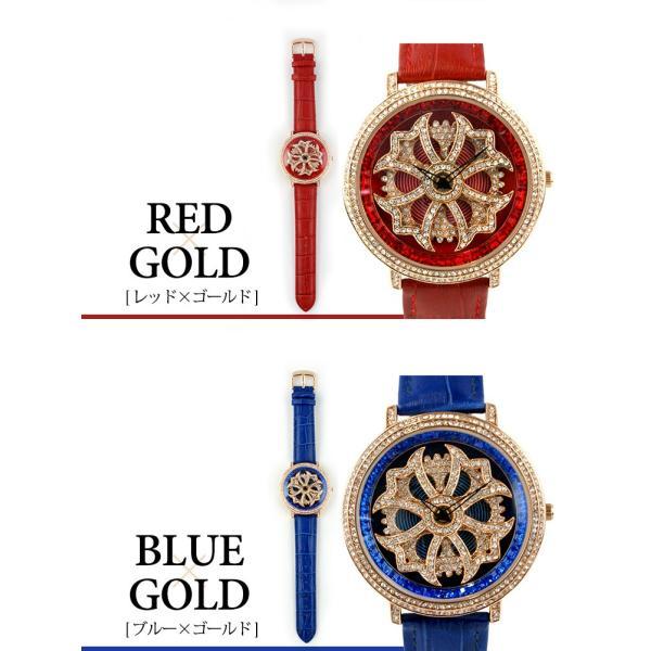 グルグル時計 本革 文字盤が回る腕時計 クルクル時計 ビッグフェイス AROUND-WATCH ユニセックス あすつく対応|syumicolle|08