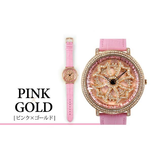 グルグル時計 本革 文字盤が回る腕時計 クルクル時計 ビッグフェイス AROUND-WATCH ユニセックス あすつく対応|syumicolle|09