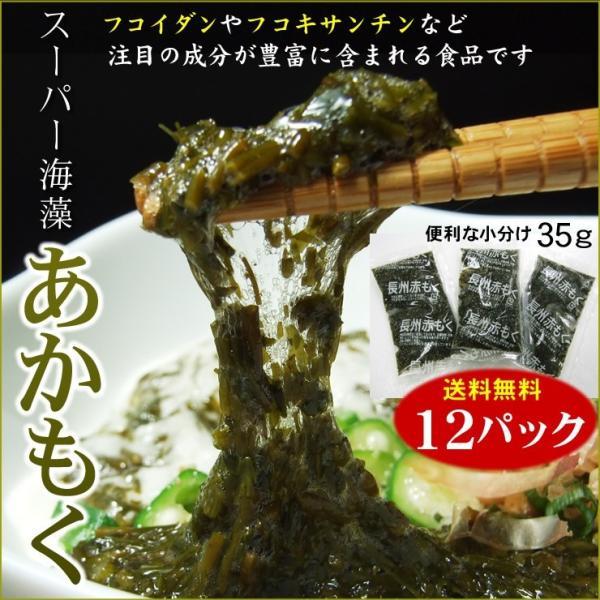 送料無料 アカモク・ギバサ 便利な小分け35g×お試し12パックセット ポン酢タレ付き 冷凍 ぎばさ あかもく スーパー海藻