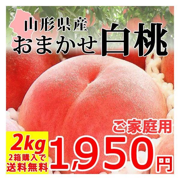 おまかせ 白桃 2kg 山形県産 訳あり ご家庭用 桃 もも 産地直送 syunmi