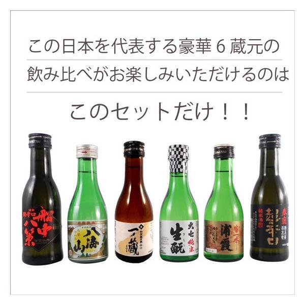 御歳暮 お歳暮 ギフト 日本酒 飲み比べセット 司牡丹、八海山、浦霞、一ノ蔵、大七、春鹿 ミニボトル 送料無料|syurakushop|10