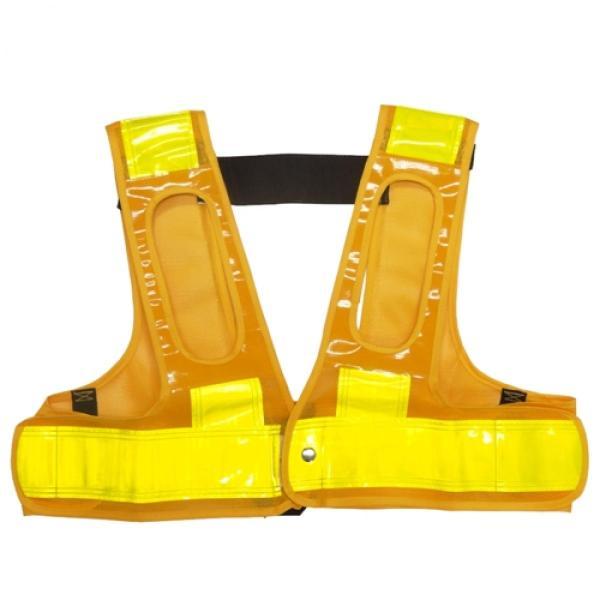 ミズケイ 役立-ツ 5941113 フルハーネス用安全ベスト『装着できるんです』 F 黄/黄