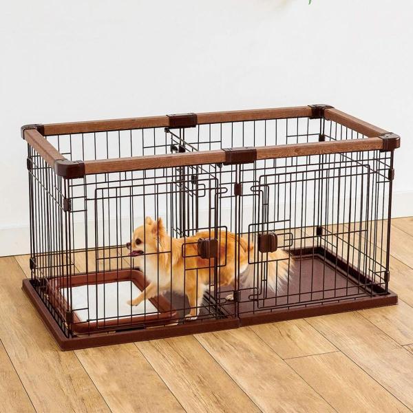 ペティオ (Petio)  犬用 お部屋に合わせて組み替えできる ドッグ ルーム サークル  ペットサークル 超小型犬 トイレ付き 全犬種用 居住 区切る 仕切り