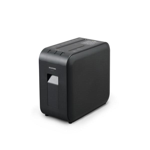 アイリスオーヤマ 静音シュレッダー 超静音 家庭用 細断枚数4枚 マイクロクロスカット  CD/DVD/BD細断可能 ダストボックス7.5L A4/100枚収容 P4HMS-B ブラック