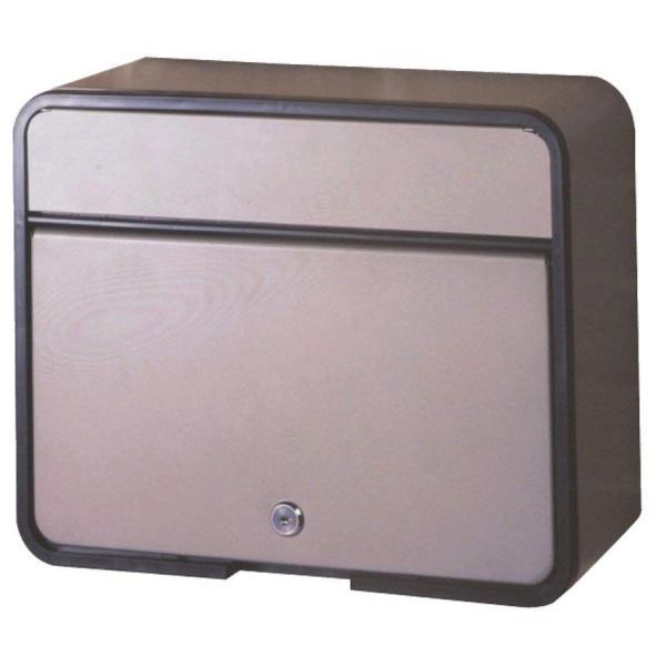グリーンライフ(GREEN LIFE) 郵便ポスト スチールポスト カムロック錠 A4封筒が入る チタングレー 15.0×30.0×37.5cm FH-58P(TGY)