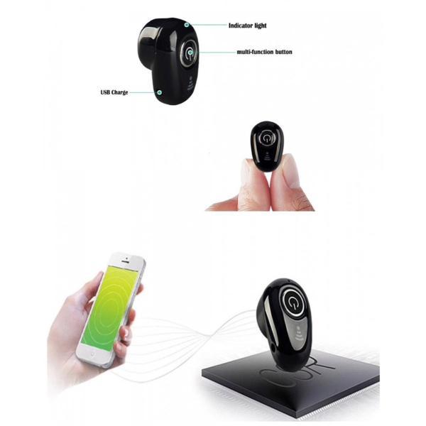 Bluetooth イヤホン ワイヤレスイヤホン  iPhone アンドロイド 対応  ブルートゥース イヤフォン イヤホンマイク 方耳 USB 充電  高音質 重低音|t-a|06