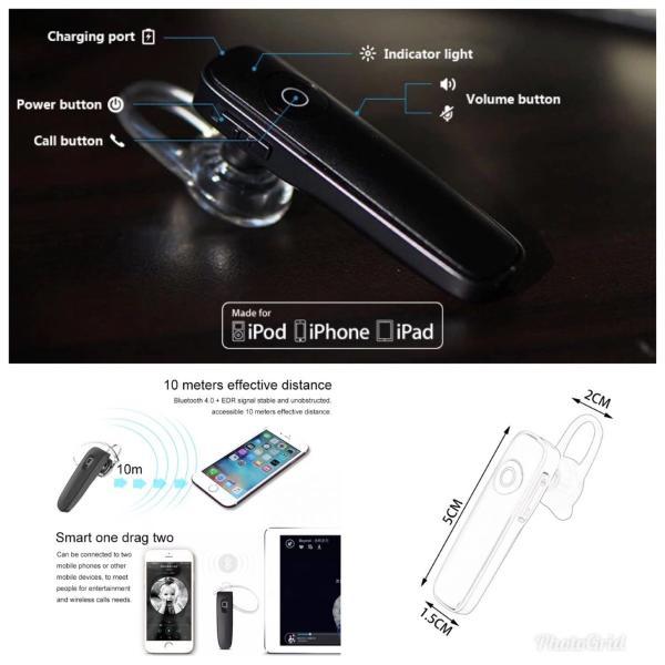 Bluetooth イヤホン ワイヤレスイヤホン  iPhone アンドロイド 対応  ブルートゥース イヤフォン イヤホンマイク 方耳 USB 充電  高音質 重低音|t-a|08